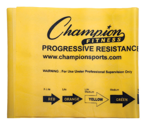 6 LB RESISTANCE THERAPY & EXERCISE FLAT BAND YELLOW