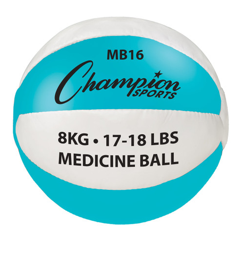 8 KG LEATHER MEDICINE BALL
