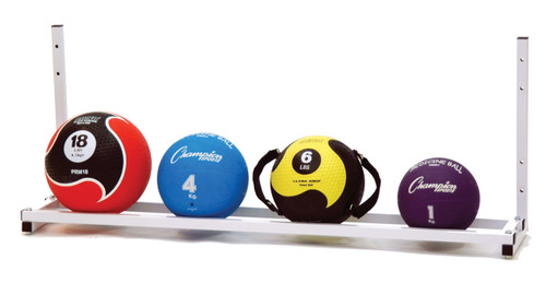 WALL MOUNTED MEDICINE BALL RACK