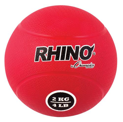 2 KILO RUBBER MEDICINE BALL RED