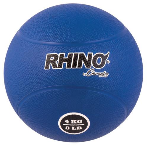 4 KILO RUBBER MEDICINE BALL BLUE