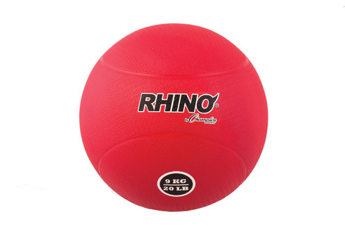 9 KILO RUBBER MEDICINE BALL RED