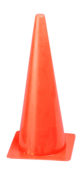 18 INCH HIGH VISIBILITY PLASTIC CONE ORANGE