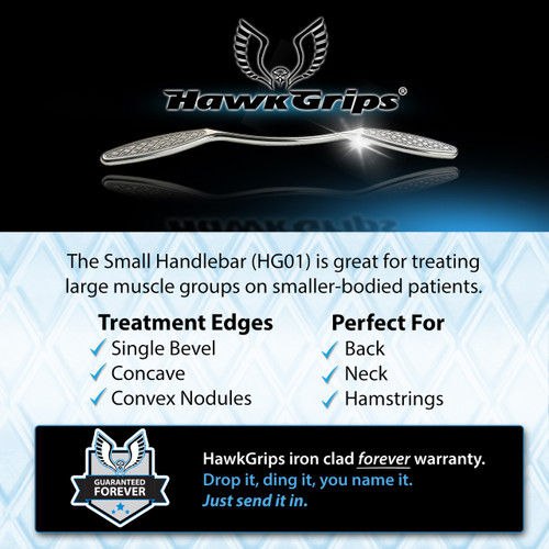 HawkGrips Small Handlebar, Stainless Steel