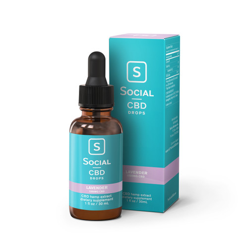Social CBD Drops, 30mL, Lavender, 1000mg (35841)