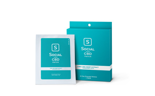 Social CBD Transdermal Patch, 20mg, 1pk (36435)