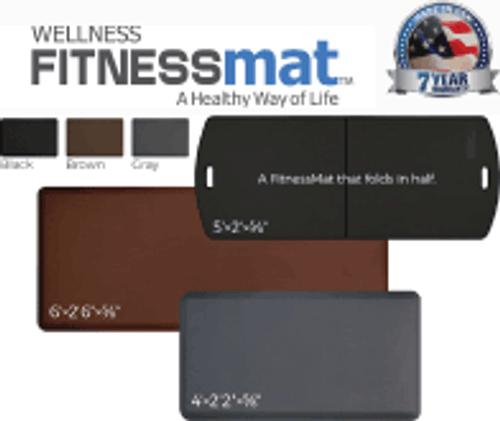 """FitnessMat (4' x  2'2"""" x 5/8"""") BLACK"""