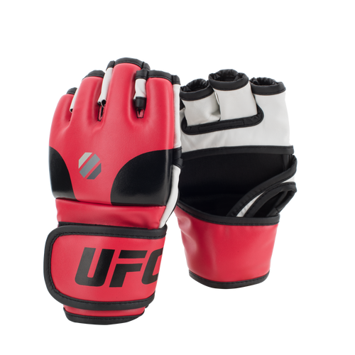 UFC Open Palm MMA Training Gloves - L/XL - Red