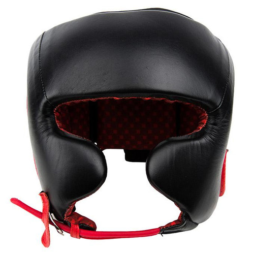 UFC Pro Leather Training Head Gear - Extra Large - Black (UFCPTHGXL-BK)