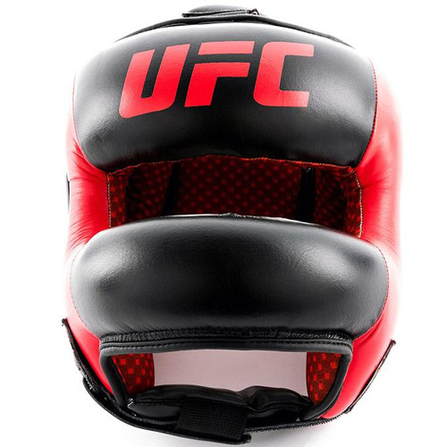 UFC Pro Leather Full Face Head Gear - Medium (UFCPFFHGM-BK)