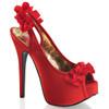 Bordello | Teeze-56, Peep Toe Sling Back Pump color red