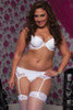 White Plus Size Satin and Lace Garter Belt (STM-9758X)