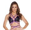 black/purple T3185 - Two Tone Wrap Top