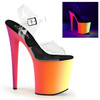 Pleaser Clearance $54.95   Rainbow-808UV, 8 Inch Ankle Strap with Multi-Color Platform