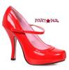 "Red  4"" School Girl Mary jane Pump Ellie Shoes   423-babydoll"