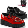 Creeper-108, 2 inch Platform creeper with heart Design by Demonia