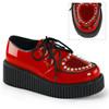 Demonia | Creeper-108 Shoes Heart Creeper Design