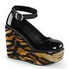 Poison-03, Print Wedge Platform Shoes Demonia