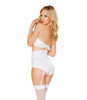 LI106, 2pc Lace Top with Bottom with Attached Waist Cincher