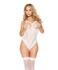 LI111, Lace Teddy with Cutout Top