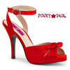 Pink Label | Eve-01 Womens Ankle Wrap Sandal Plus Size 9-16 color red satin