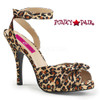 Pink Label | Eve-01 Womens Ankle Wrap Sandal Plus Size 9-16 color Cheetah Satin