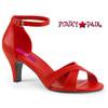 Red Divine-435, Ankle Strap Sandal Size 9-16 Pink Label
