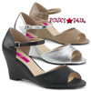 Pink Label   Kimberly-05, Wedge Ankle Strap Sandal Size 9-16