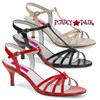 Pink Label | Kitten-06 Womens T-strap Sandal Large Size 9-16 color available: Red, Black, Cream