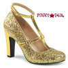Queen-01 color Gold Glitter by Pleaser Pink Label