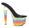 """709-Electric 7"""" Multi Color Stripes Shoes"""