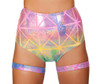 R-3452, Colorful High Waisted Short