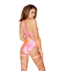 R-3468, Strappy Romper-Top not included color pink back view