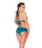 JV-FF691, Faux Suede Basic Short color teal back view