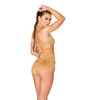 JV-FF693, Faux Suede High-Waist Short color honey back view