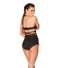 JV-FF693, Faux Suede High-Waist Short black back view