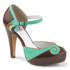 Bettie-17, Two Tone D'orsay Pump