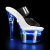 Pleaser | Flashdance-702, 7 Inch Lite-Up Platform