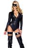 FP--555214, Hologram Zip front Bodysuit