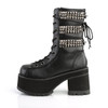 Ranger-305, 3.75 Inch Chunky Heel with Studds Ankle Boots side Veiw