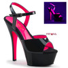 Pleaser Shoes Kiss-209TT, 6 Inch High Heel Two Tone Ankle Strap Platform Sandal