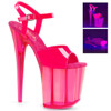 Flamingo-809UVT, 8 Inch Ankle Strap Platform Sandal with Tinted Bottom