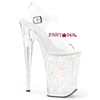 Pleaser | Infinity-908MG, Ankle Strap Platform Sandal with Glitters