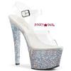 Pleaser   Sky-308LG, Ankle Strap Exotic Dancer Shoes Color Silver Multi Glitter