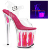 Flamingo-808FLM, 8 Inch Stiletto Heel with Flame| FunkyPair.com