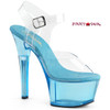 Aspire-608T, 6 Inch Ankle Strap with Tint Platform color light blue