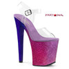 Xtreme-808OMBRE, 8 Inch High Heel with Multi Glitter Ombre Effect Color Fuchsia