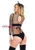 LA89164, Naughty Kitty Industrial Net Bodysuit