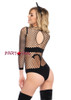 LA89164, Naughty Kitty Industrial Net Bodysuit