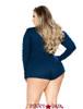 R-LI211X, Plus Size Sweater Romper